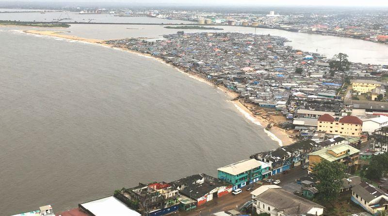 View from top floor biggest slum West point